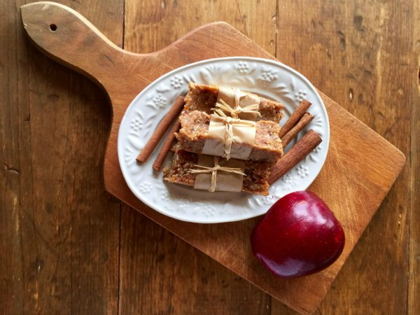 Homemade Apple Cinnamon Date Bars! This recipe is gluten free, dairy free, grain free and even nut free. Works on Paleo & GAPS Diet. Best of all, it is an easy, no-bake recipe. #cleaneating