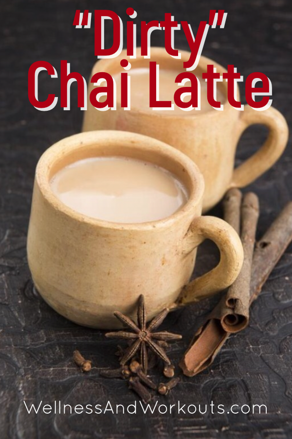 Learn how to make your own dirty chai latte with herbal coffee alternatives in this delicious recipe. A great, healthy way to get liver-boosting benefits of herbs in a delicious DIY drink! #drinks