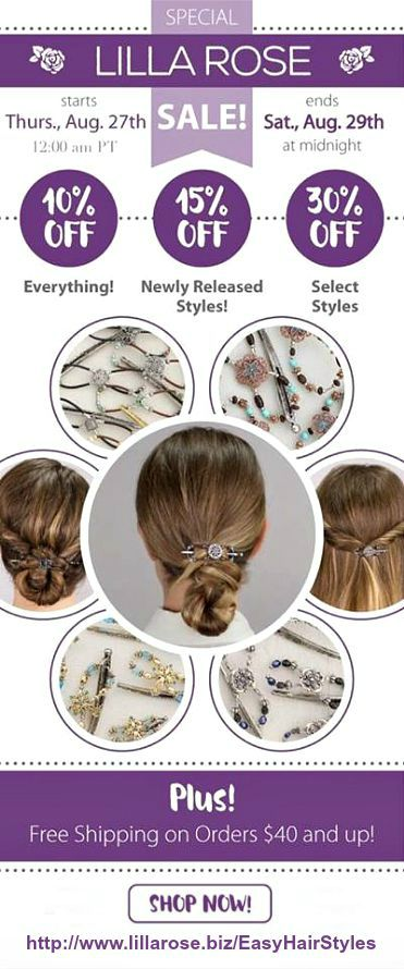 Lilla Rose Flexi Clips make Easy Hair Styles a breeze! Check out this sale! :)