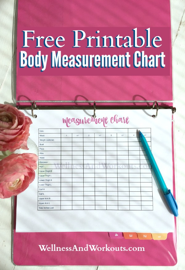 Free Printable Body Measurement Chart | T-Tapp Inspired Body