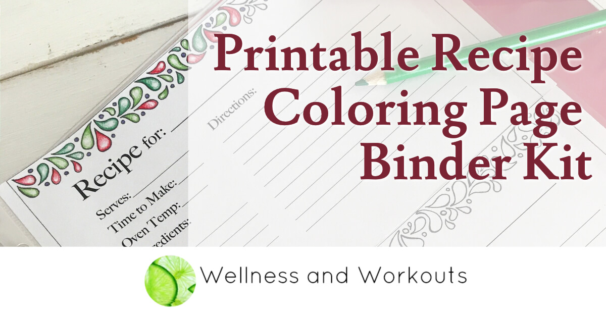 It is a picture of Free Printable Recipe Binder Kit regarding full page