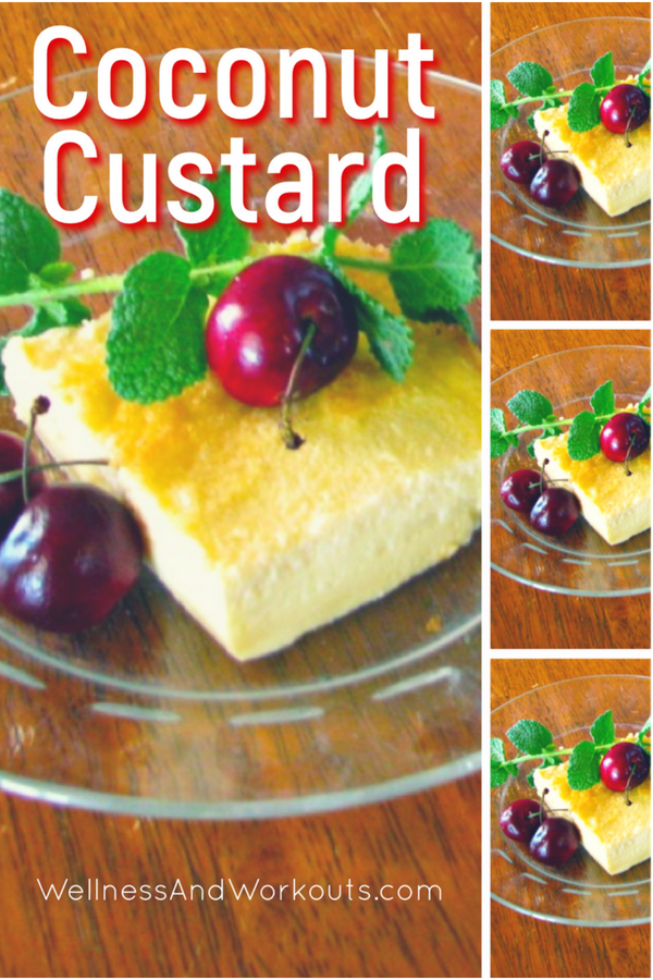 I love this dairy free coconut custard recipe! It's actually sugar-free--you can make a low carb/keto/THMS version with stevia, or sweeten with honey for Paleo/GAPS Diet. #paleodessert #lowcarbdessert