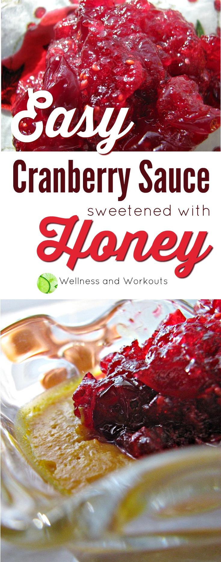 Easy Cranberry Sauce Recipe with Honey--GAPS Diet, SCD, Paleo/Primal