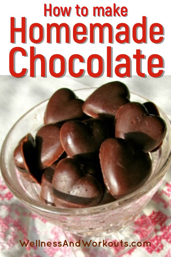 Want to know how to make homemade chocolate? This kind is made with coconut oil and honey. It's great for making your own candy bars, diy chocolate chips, (for the best chocolate chip cookies!).