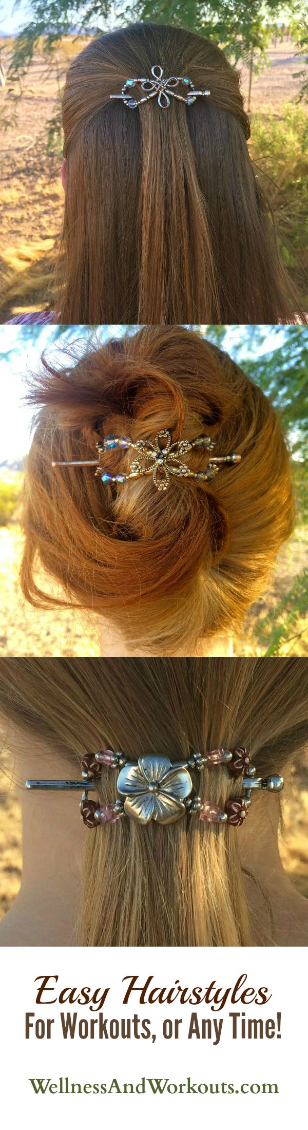 Lilla Rose Flexi Clips, Easy Hair Styles for workouts or anytime!