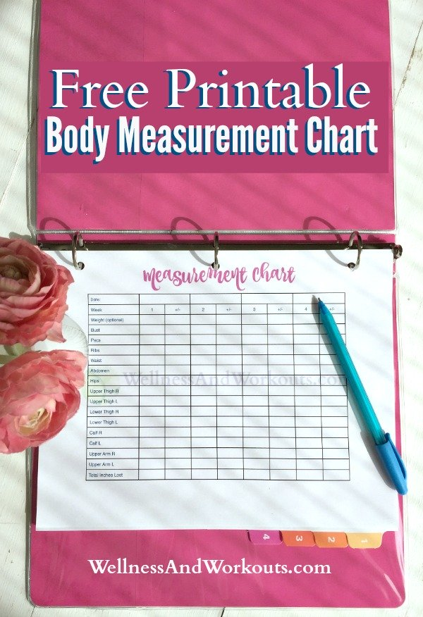 Free Printable Body Measurement Chart | T-Tapp Inspired ...